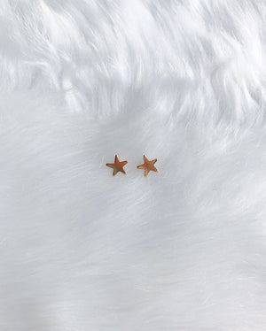 North Star Stud Earrings - Gold