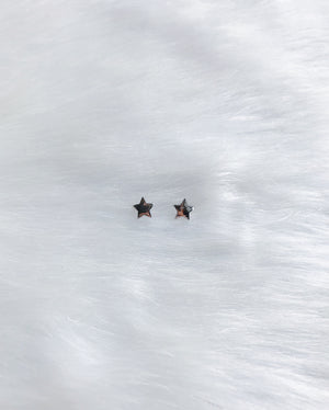 North Star Stud Earrings - Silver