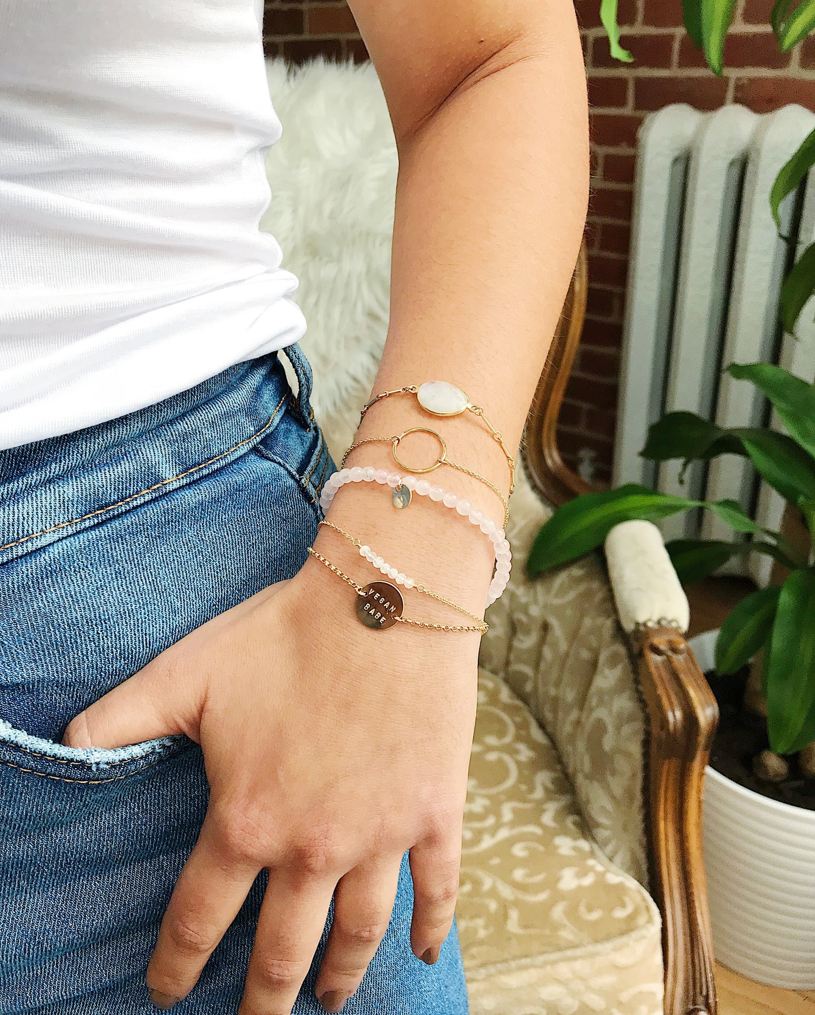 Gem Bar Bracelet - Gold