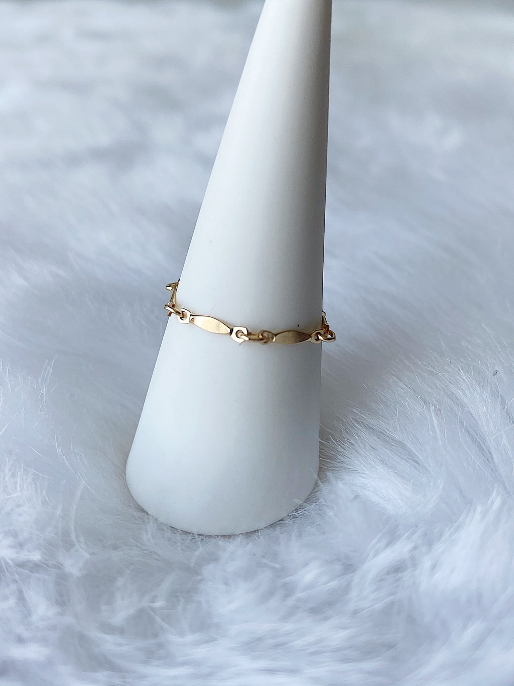 Bar Chain Ring - Gold