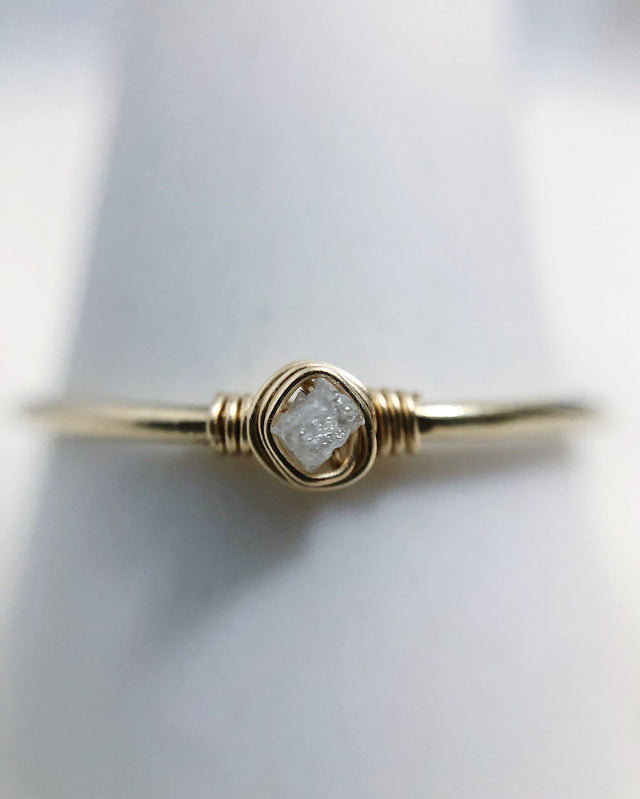 Raw Diamond Ring - Gold