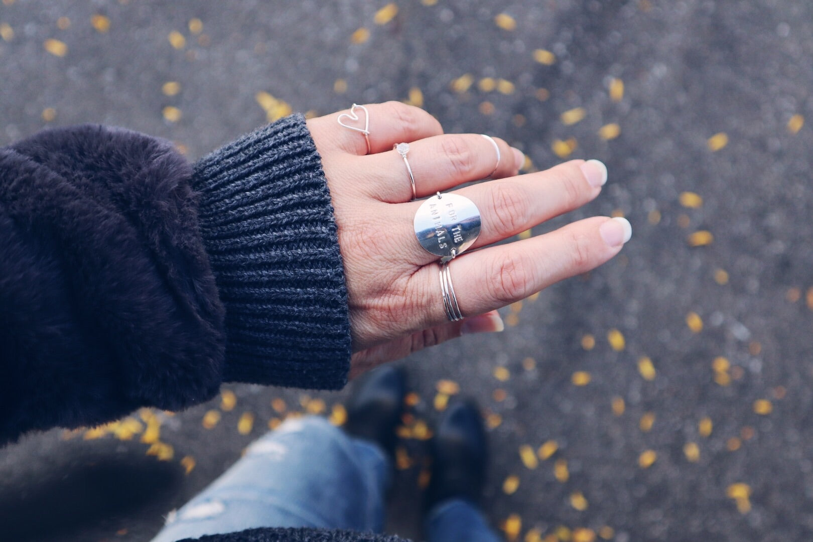 Lover Heart Ring - Silver