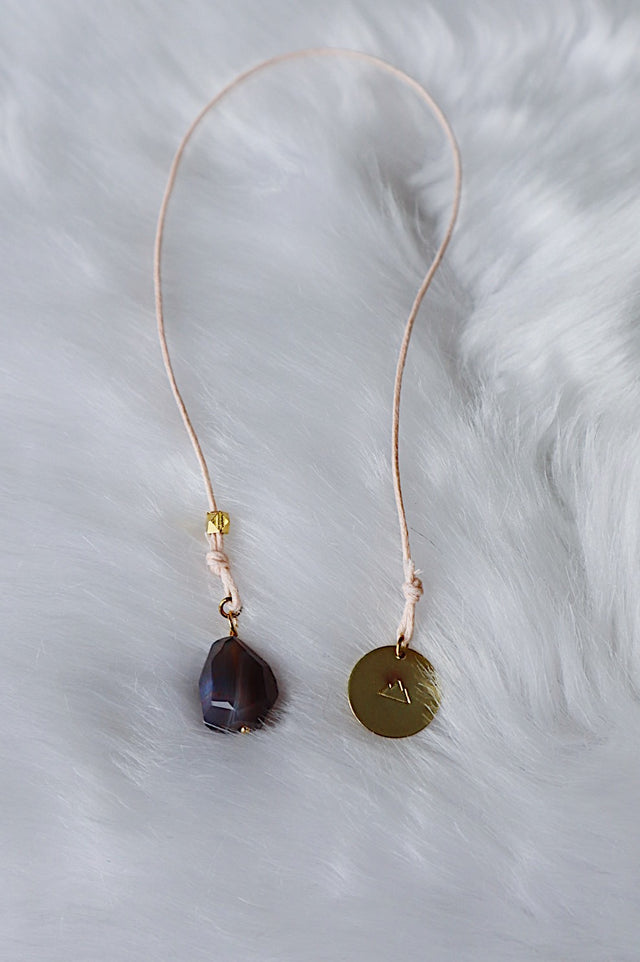 Agate & Brass Sun Bookmark