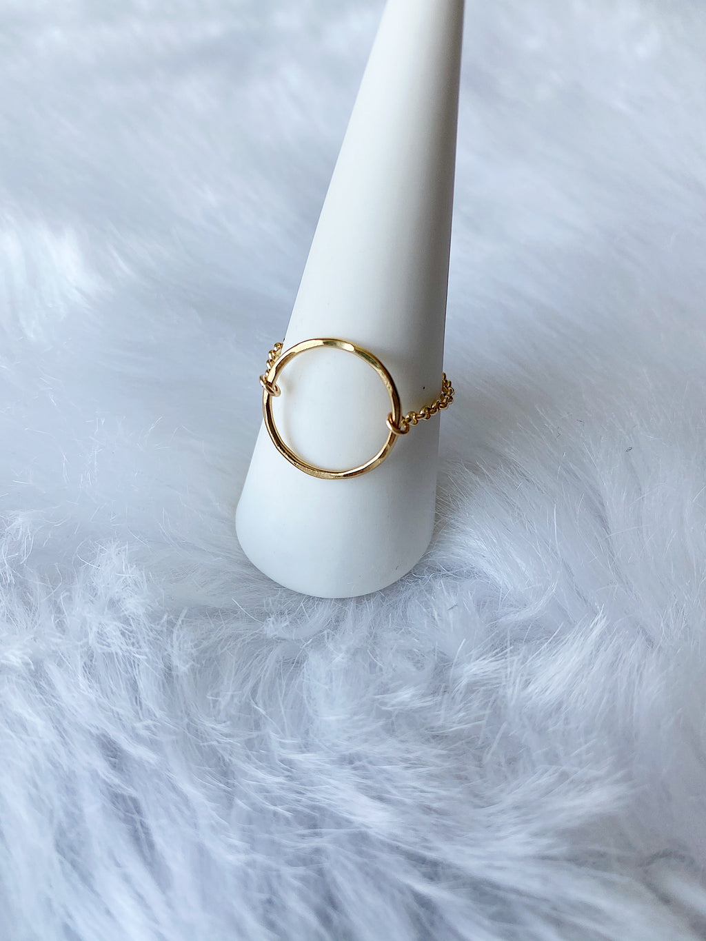 Circle Chain Ring - Gold