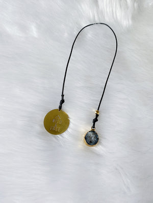 Druzy Nugget & Stamped Gold Coin Bookmark