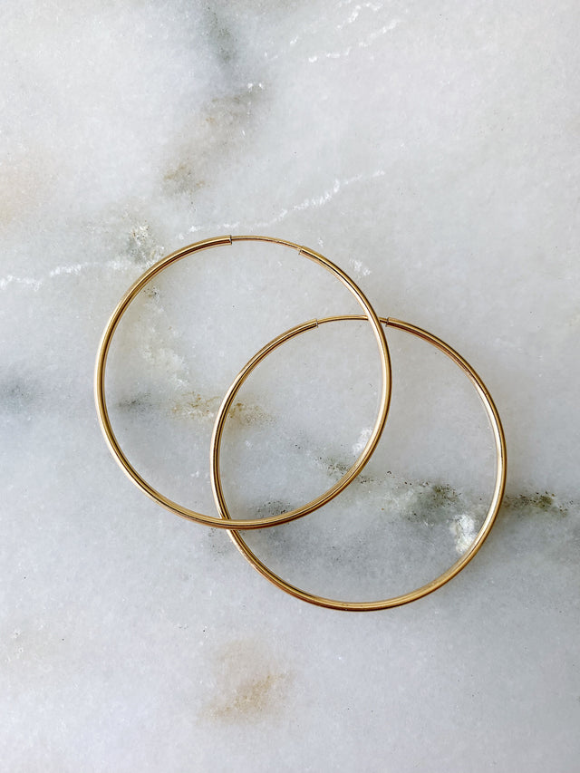 Polished Hoops 38mm - Gold