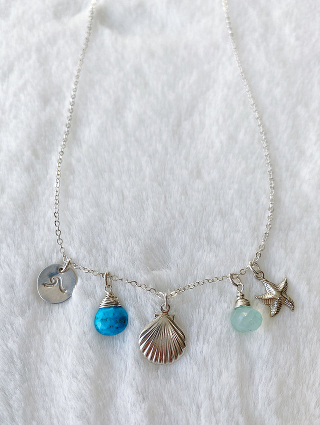 Ocean Charm Necklace - Silver