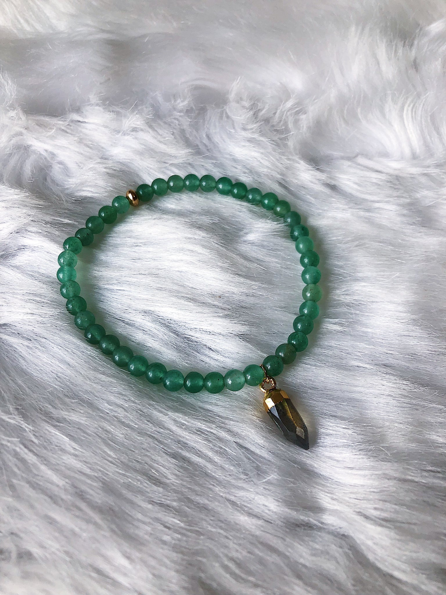 Jade with Labradorite - Gold
