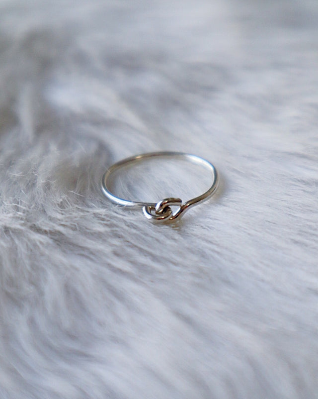 Connection Stacking Ring - Silver