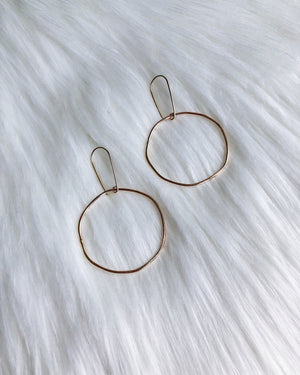 Imperfect Circle Earrings - Gold