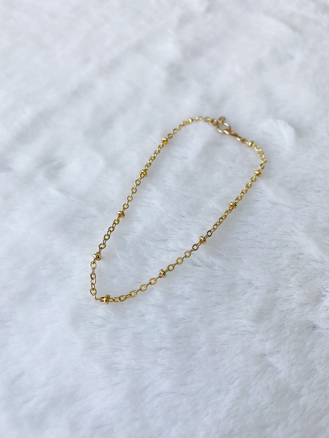 24k Gold Fill Dew Drops Chain Anklet ~ Morph