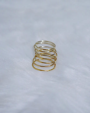 Polished Stacking Ring - Gold