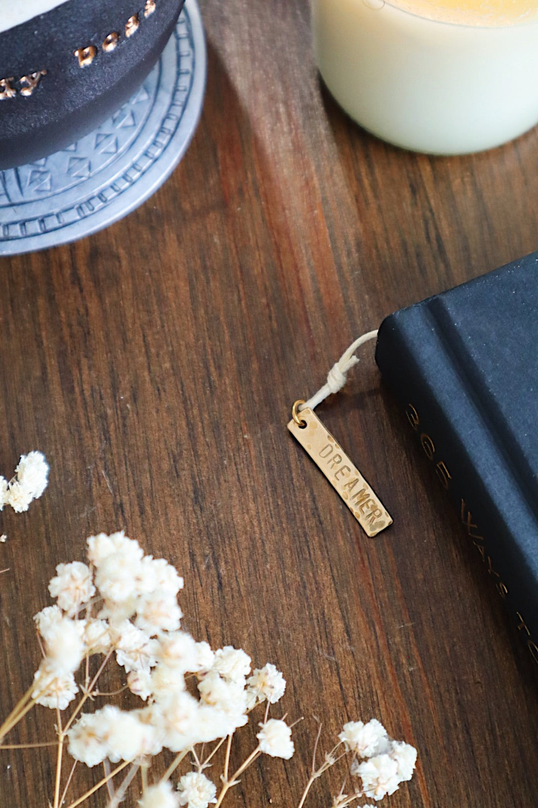 Dreamer with Moonstone Gold Bookmark