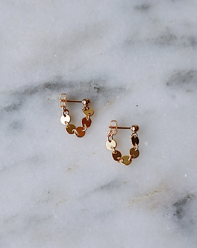 Coin Wrap Earrings - Gold