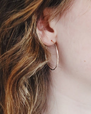 xs - xl Hoop Earrings - Silver