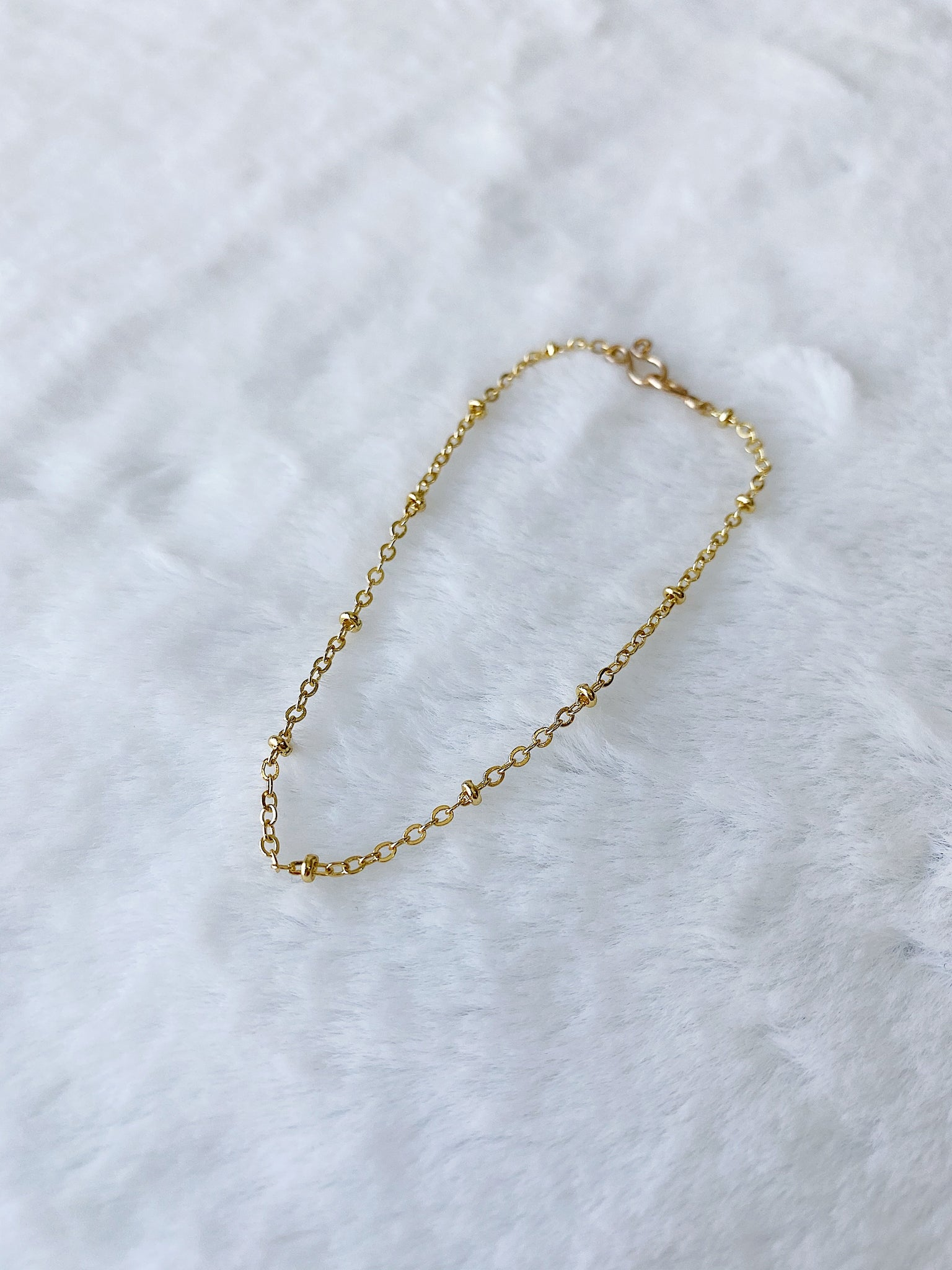 24k Gold Fill Dew Drops Chain Bracelet ~ Morph