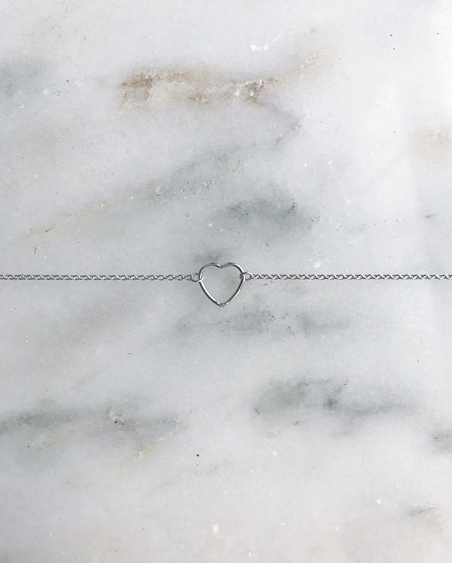 For The Love Anklet - Silver