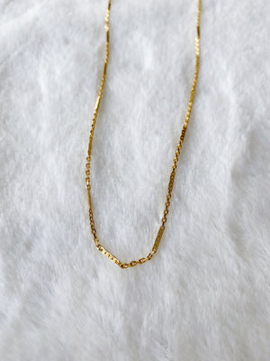 24k Gold Fill Delicate Bar Chain Anklet ~ Morph