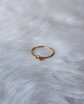 Connection Stacking Ring - Gold