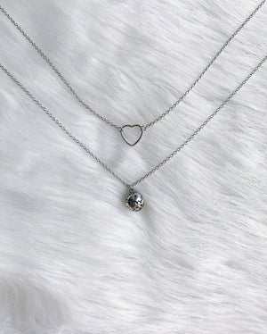 """For The Love"" Necklace - Silver"