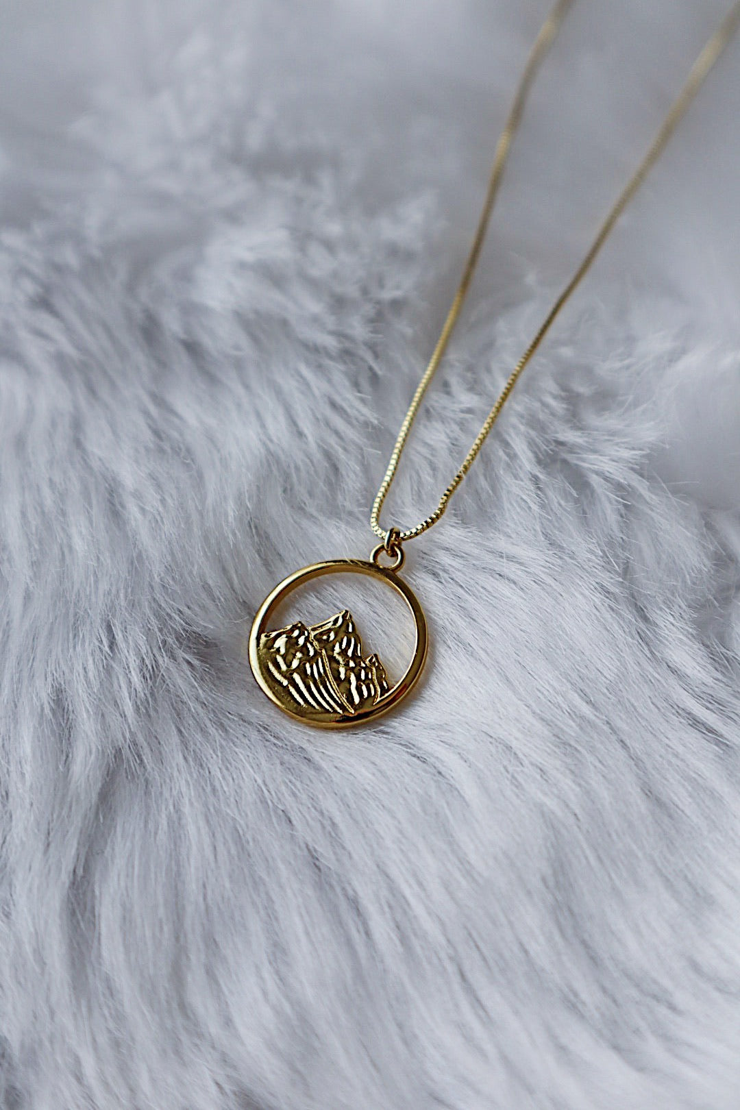 Mountain Necklace - Gold