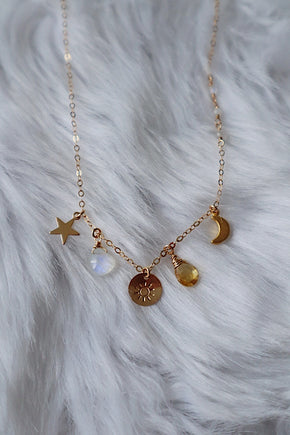 Celestial Charm Necklace - Gold