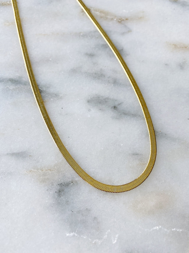 4mm Herringbone Chain - Gold