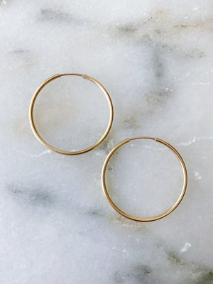 Polished Hoops 25mm - Gold