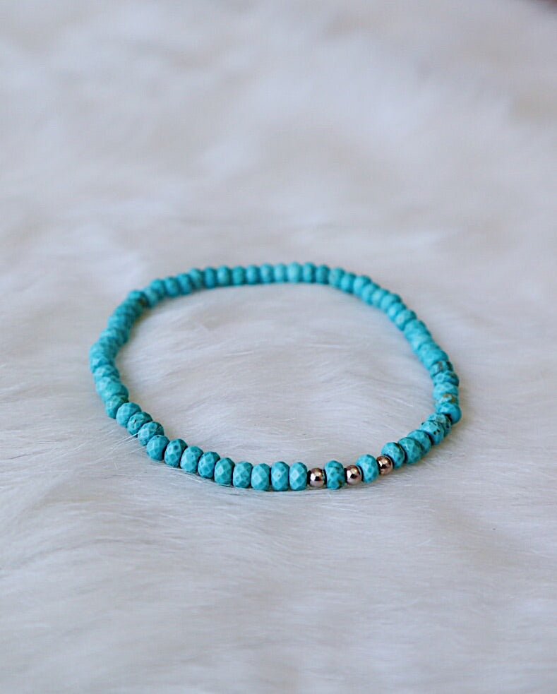 Turquoise Howlite - Silver