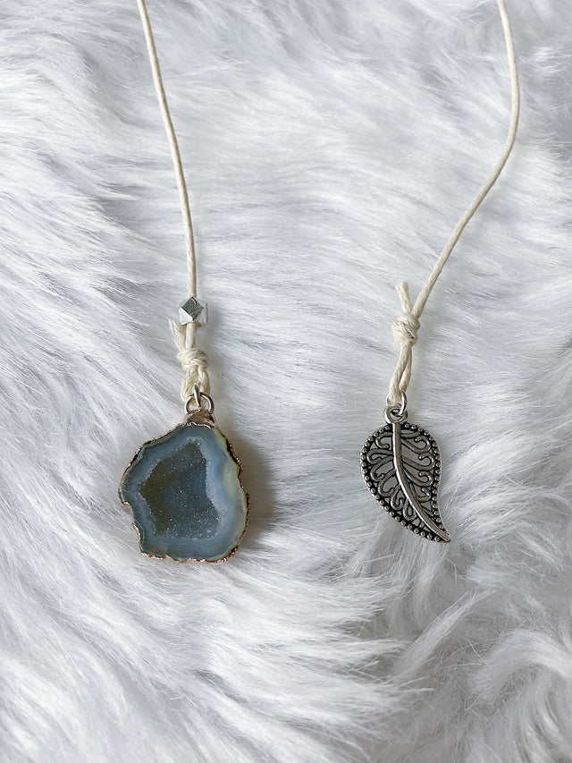Druzy Geode & Leaf Bookmark
