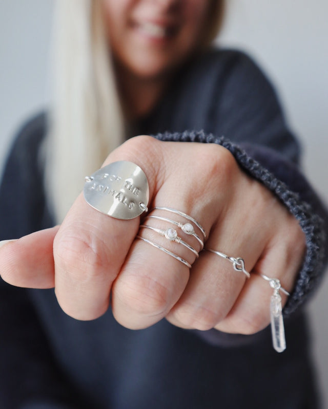 Coin Message Ring - Silver