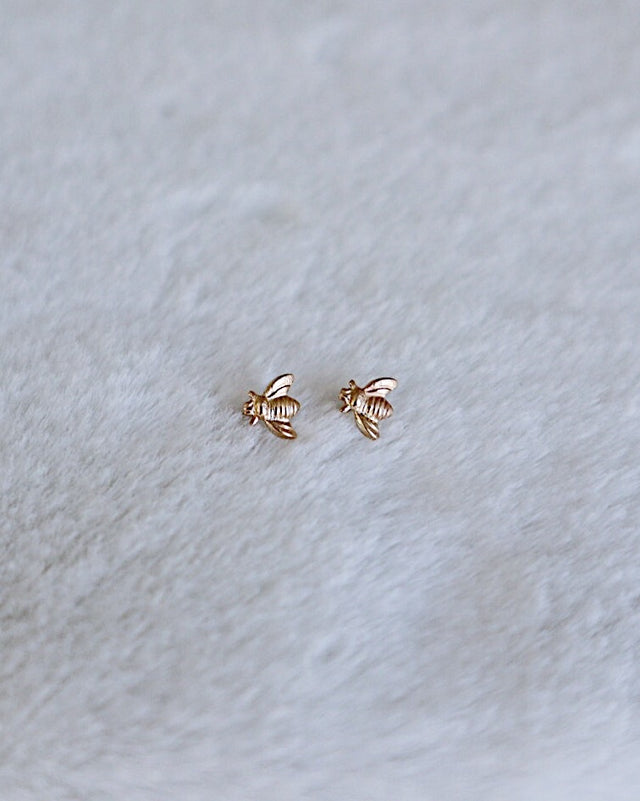 Bee Earrings - Gold or Silver