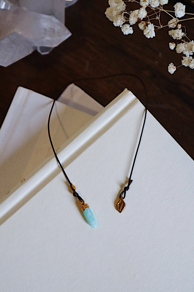 Gold Leaf and Amazonite Bookmark