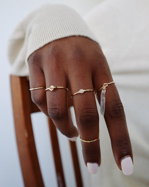 Faceted Stacking Ring - Gold