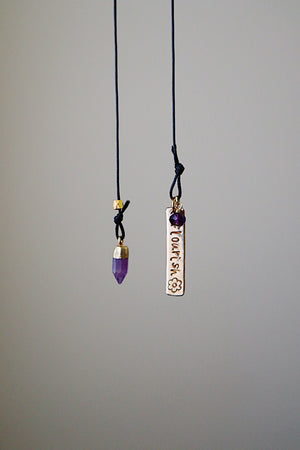 Flourish with Amethyst Gold Bookmark