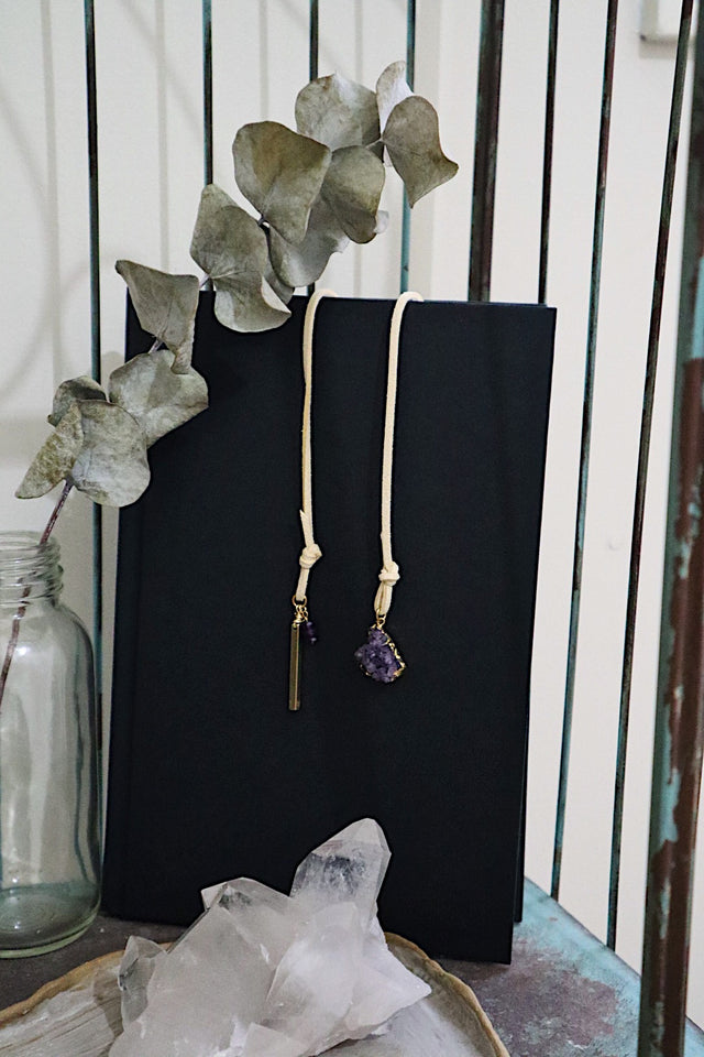 Gold Amethyst Druzy Bookmark