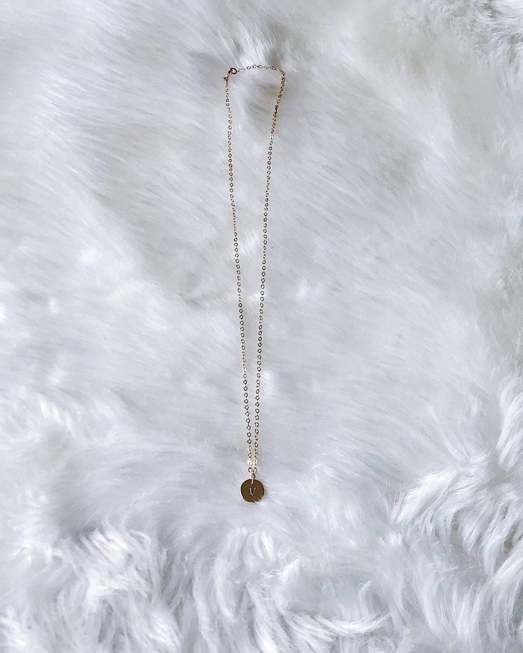 Tiny Coin Necklace - Gold