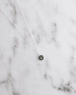 Tiny Coin Necklace - Silver