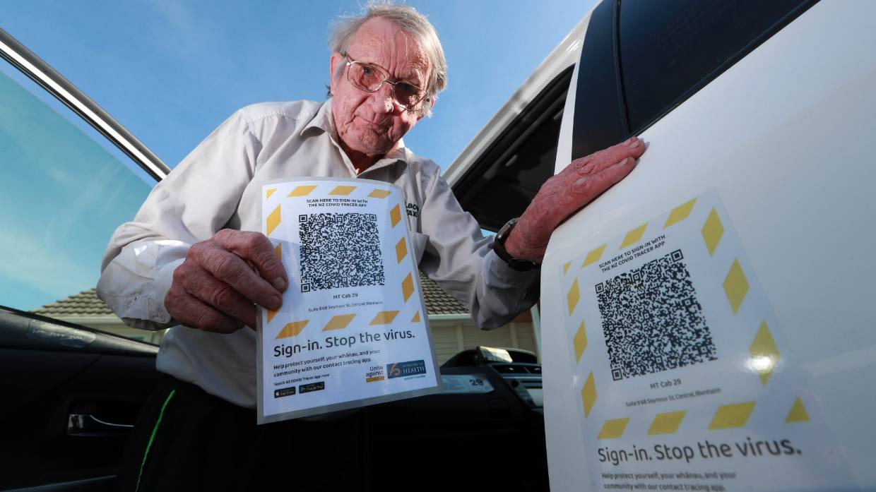 Sign-in to your taxi with QR code