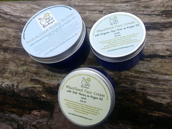 All 3 Blackseed face and body cream range for £30