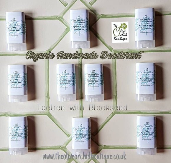 Organic Handmade Deodorant: Tertree with Blackseed