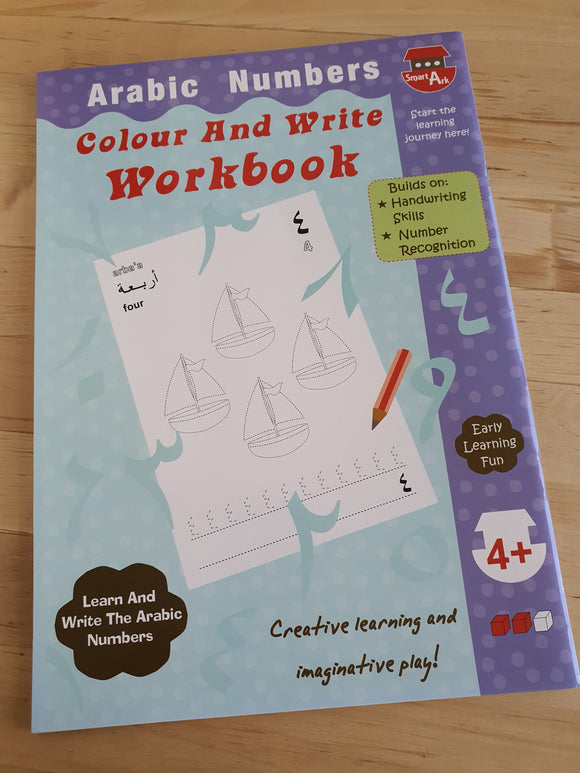 Arabic Number Colour And Write Workbook