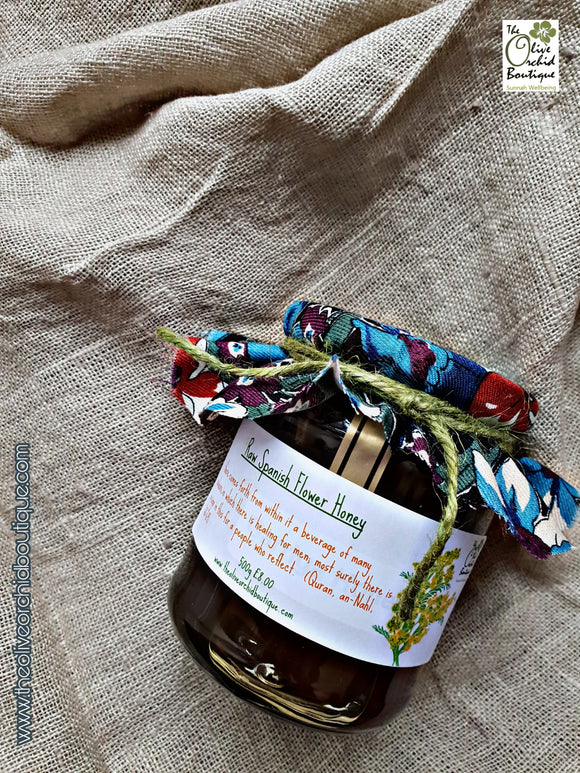 ORGANIC, UNPASTEURISED Raw Spanish Flower Honey