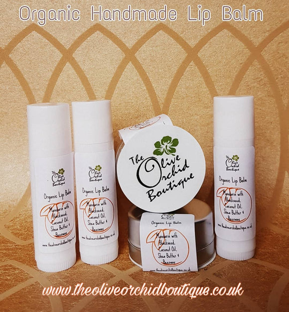 Organic Handmade Lip Balm Mandarin with Blackseed
