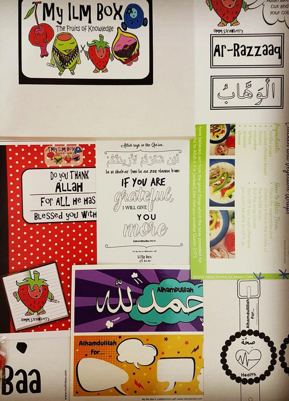 'My Ilm Box' Craft Box - Do you thank Allah for all He has blessed you with?