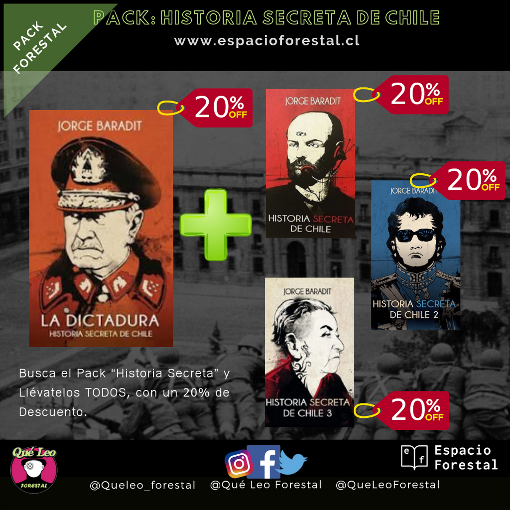 Pack Historia Secreta Chilena - Jorge Baradit