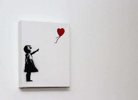 Girl With Balloon Small Box Canvas