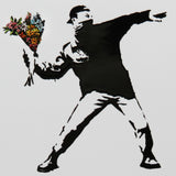 RAGE, FLOWER THROWER (A4 FRAMED / UNFRAMED)