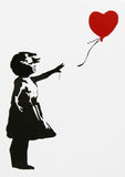 GIRL WITH BALLOON A6 POSTCARD PRINT