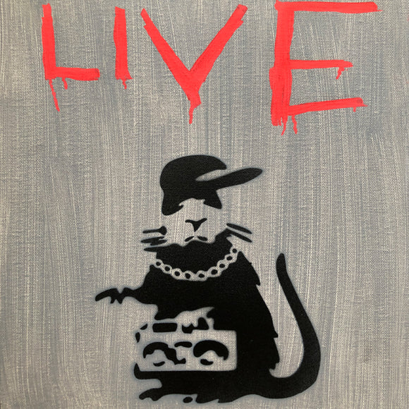 GANGSTA RAT LIVE CANVAS